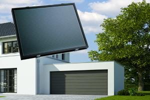 Garagentorantrieb mit Akku und Solar